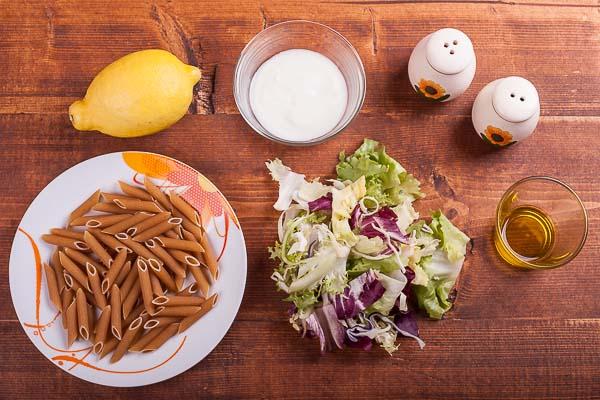 Creamy Yogurt Pasta Salad Ingredients