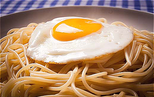 5. final fried egg spaghetti recipe