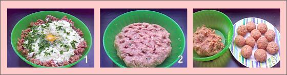 Meatball Soup Steps 1 - 2 - 3