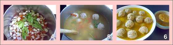 Meatball Soup Steps 4 - 5 - 6