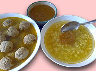 Italian Meatball Soup with Small Pasta Shape