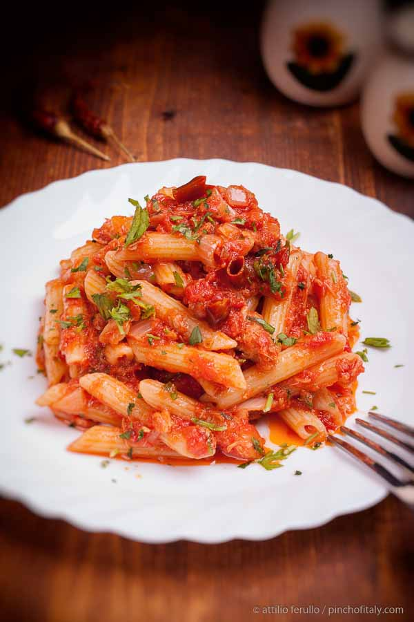 Penne All'Arrabbiata Yes Angry Penne!
