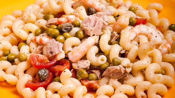 SHRIMPS & TUNA PASTA SALAD