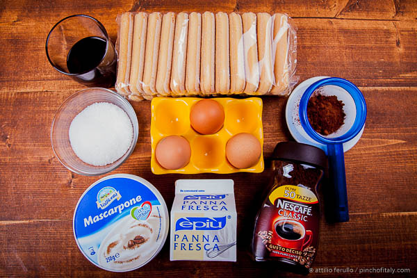 Tiramisù Ingredients Serves 4